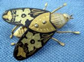 Unusual Spanish Toledo Metal Moth-A1940s - 1950s  brooch (SOLD)